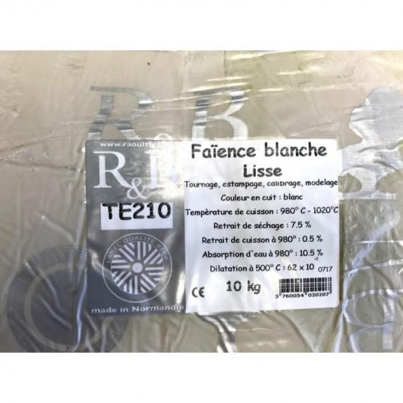 FAIENCE BLANCHE TERRA LISSE 960-1020° Conditionné par 10 Kg - 1 - Terre Faïences