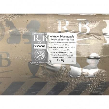 FAIENCE BLANCHE TERRA CHAMOTTEE 960-1020° Conditionnée par 10Kg - 1 - Terre Faïences