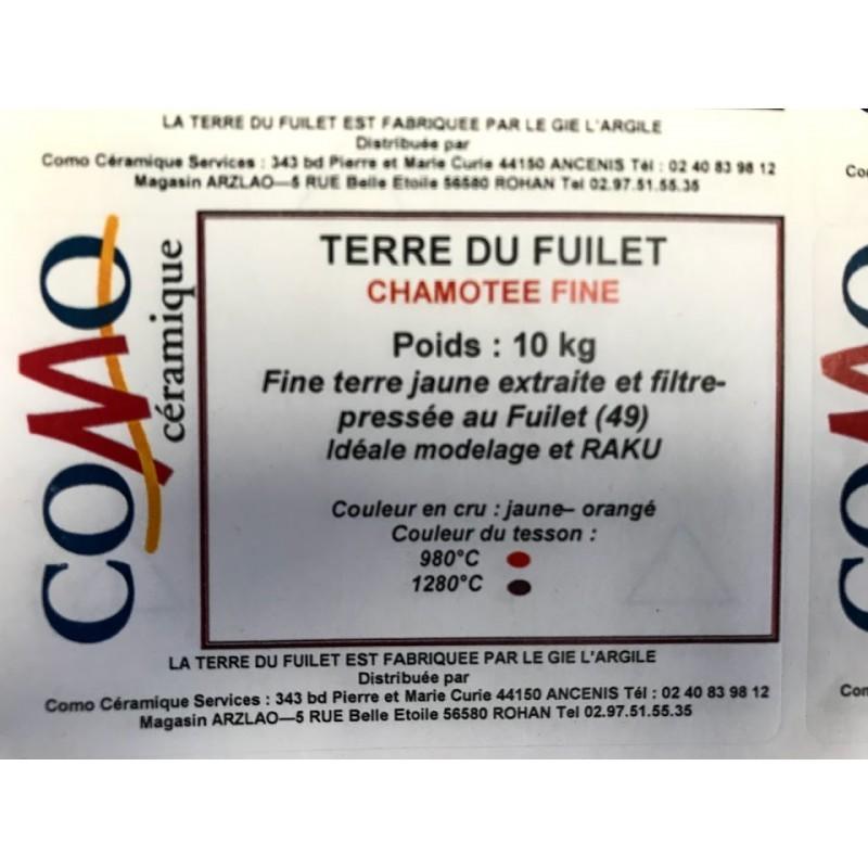 TERRE DU FUILET CHAMOTTEE 960-1280°C Conditionnée par 10 kg - 1 - Terre du fuilet