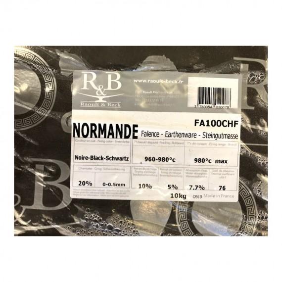 FAIENCE NOIRE TERRA CHAMOTTEE FINE 980°C maxi Condit.10kg - 1 - Terre Faïences