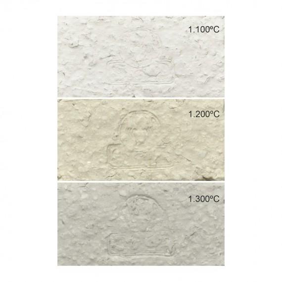 GRES BLANC PRAM 1.5 mm 960-1280°C Condit.12.5 kg - 1 - Sélection d'argiles pour le modelage