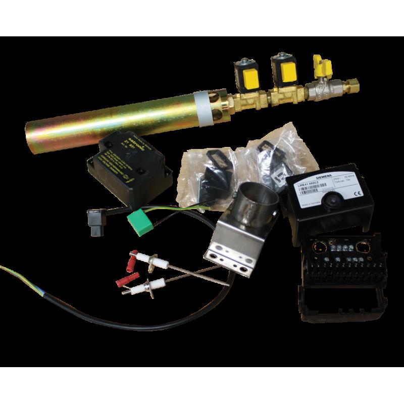 Brûleur gaz 42 kW double électro-vanne + Ionisation + relais Siemens